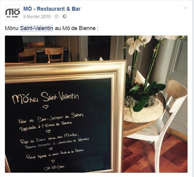 Publication st valentin restaurant Mo