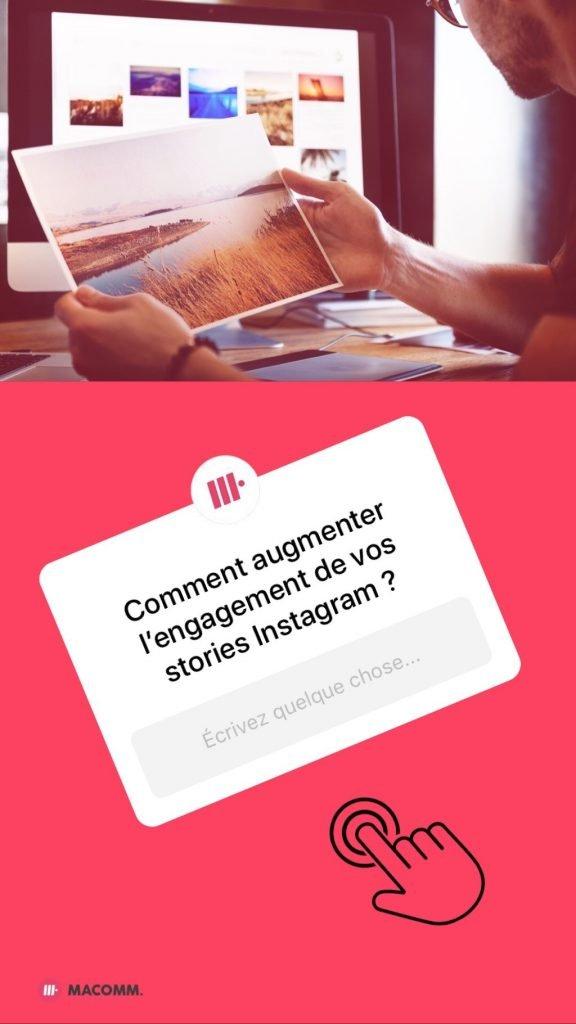 Sticker question story Instagram