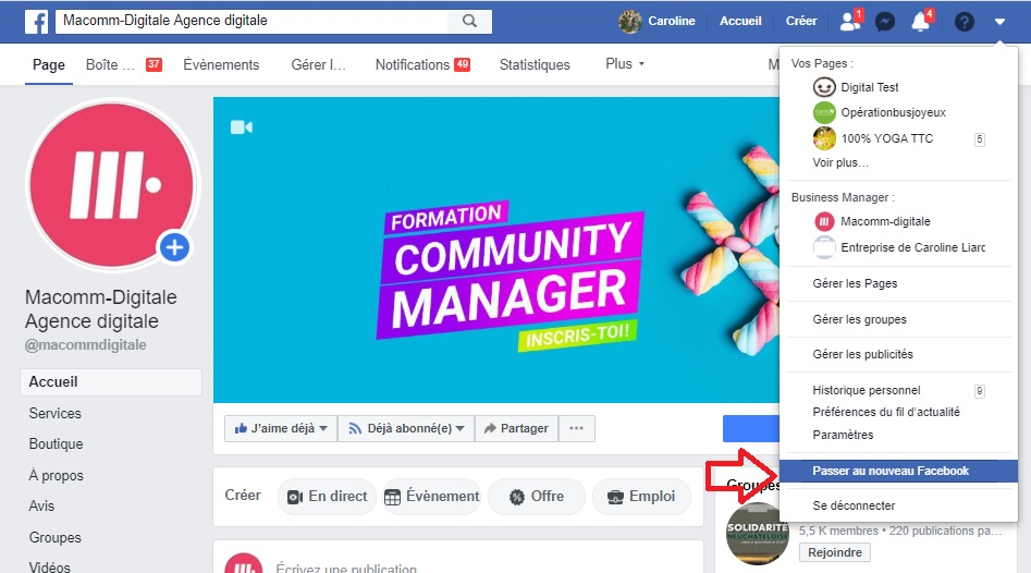 Comment accéder au nouvel interface de publication Facebook